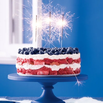 4TH OF JULY: Red, White, and Blue Berry Trifle (from Martha Stewarts Everyday Food)