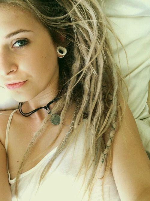 ombre+dreads | dreads, beautiful, love, girl, perfect, dreadlocks, alargador, blonde
