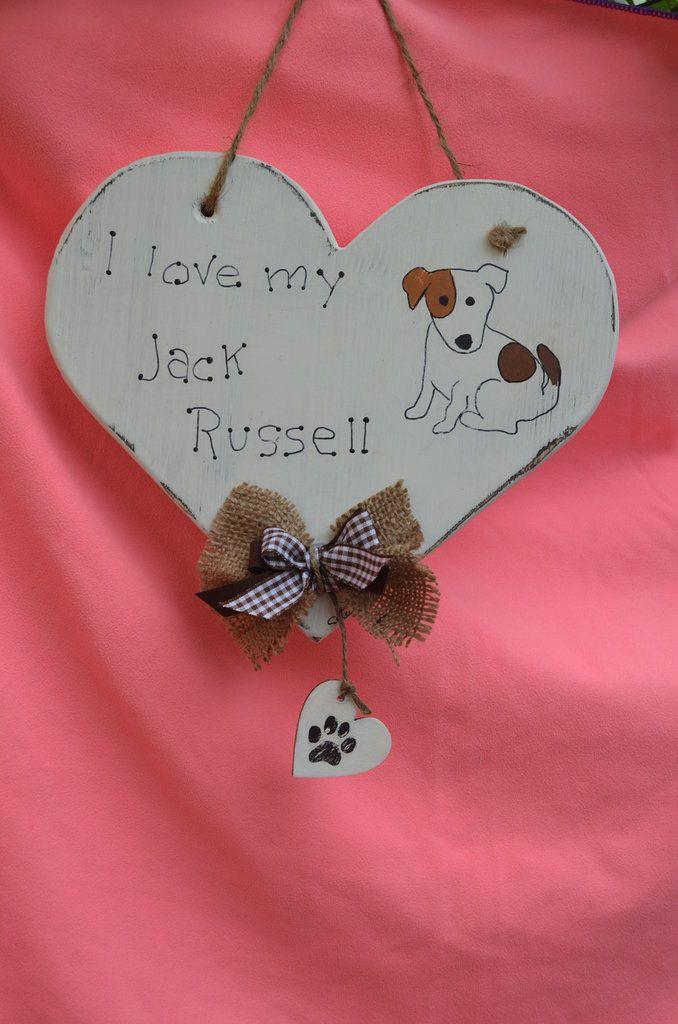 "I LOVE MY JACK RUSSELL"" SHABBY SCHIC , by La Bottega di Dora, 15,00 € su misshobby.com"