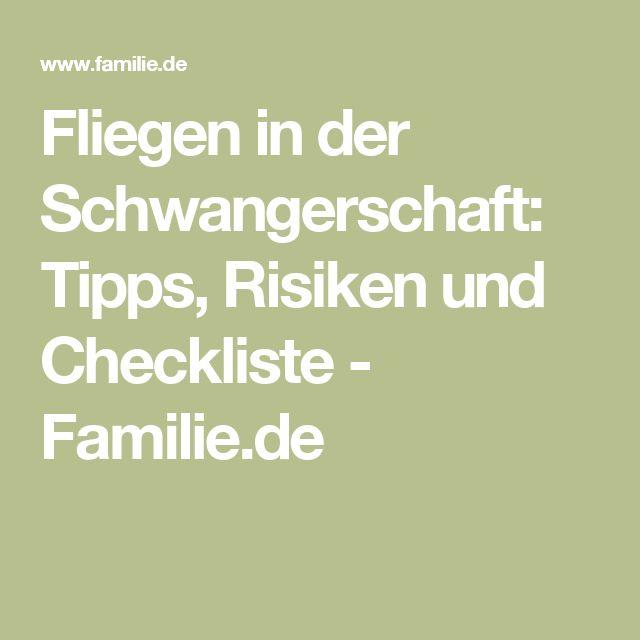 Fliegen in der Schwangerschaft: Tipps, Risiken und Checkliste - Familie.de
