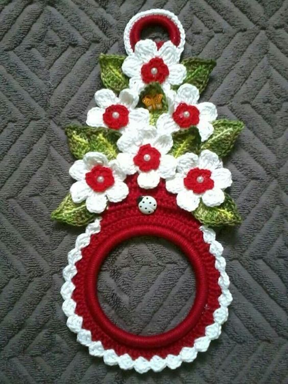 crochet towel holder                                                       …                                                                                                                                                                                 More