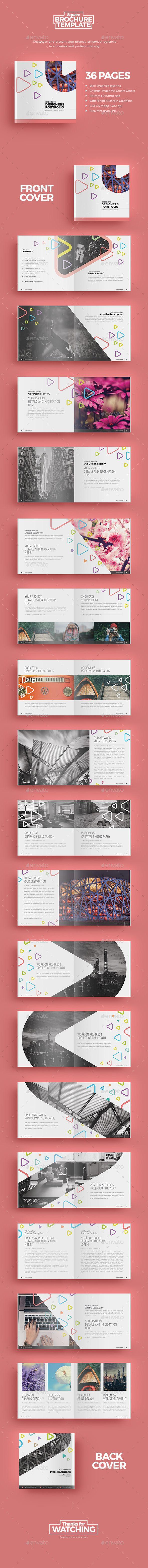 Square Brochure 3 — Photoshop PSD #modern #indesign • Download ➝ https://graphicriver.net/item/square-brochure-3/19455741?ref=pxcr