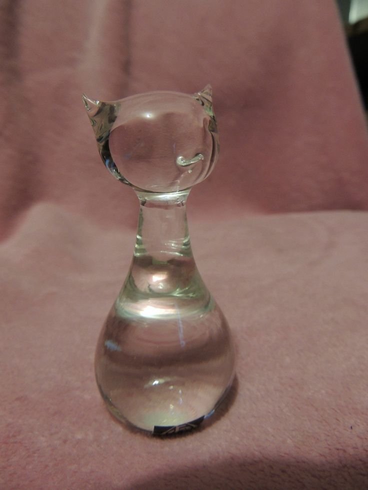 "Eneryda Glasbruk Sweden 3 1 2"" Glass Cat Figurine Sticker Label | eBay"