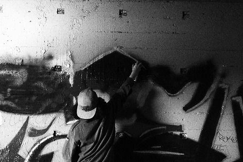 Writing #graffiti #vandal #street #art #black and white #photo #underground