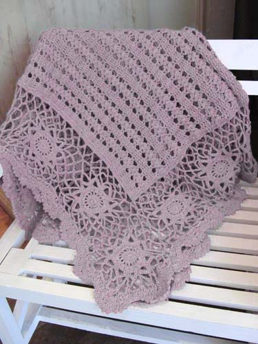 Green Gate  Blanket crochet Chloé purple.