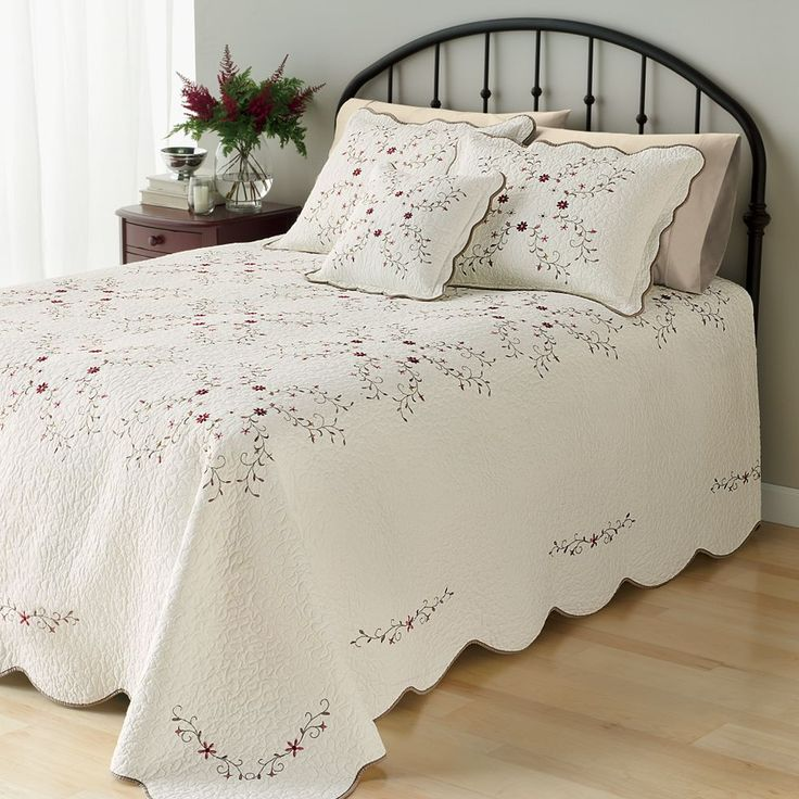 Home Classics® Amelia Quilted Bedspread, White