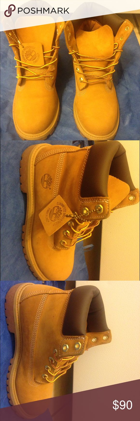 Boys Timberland Boots (Size 5.5) Pretty NEW Boys Timberlands Boots (Size 5.5) only worn 2 times pretty new (Feel free to ask questions) Timberland Shoes Boots