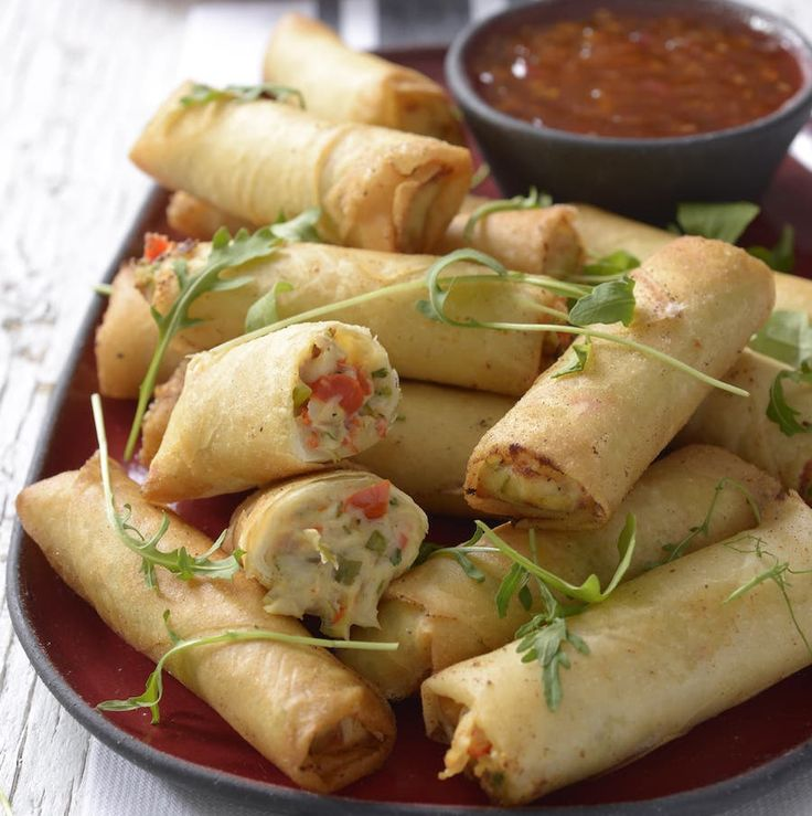 Snoek and Peppadew Spring Rolls recipe