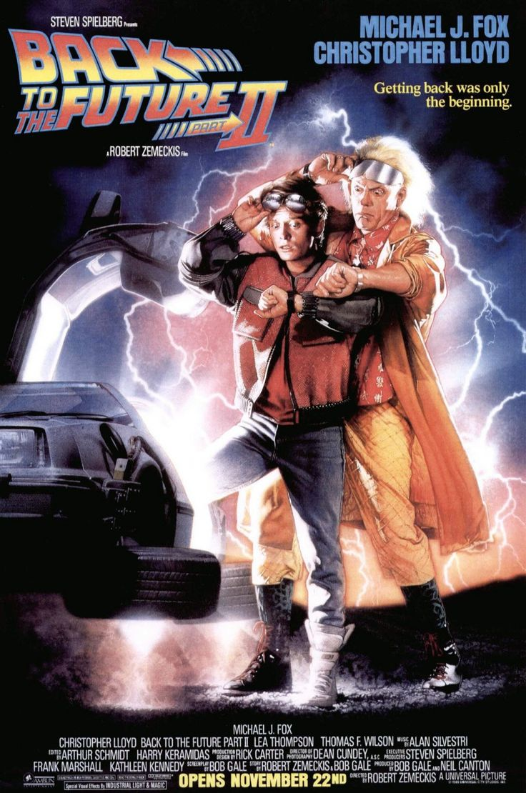1989 - Back to the Future Part II - After visiting 2015, Marty McFly must repeat his visit to 1955 to prevent disastrous changes to 1985... without interfering with his first trip. #movies