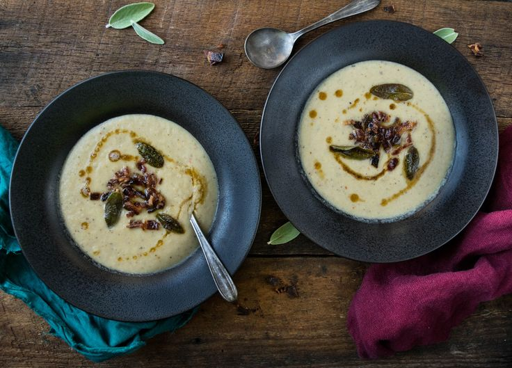 ... Soup with Maple Candied Bacon, Fried Sage, and Brown Butter- Paleo