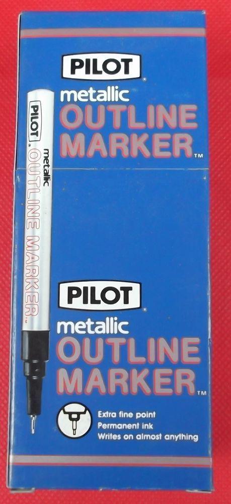 Pilot SC-OS-EF Metallic Marker Extra Fine Point, Purple  New Old Stock Box of 12 #Pilot