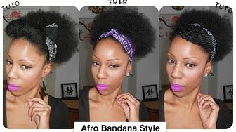 {Hair Tutorial} Afro Puff Style - 4c Hair - YouTube