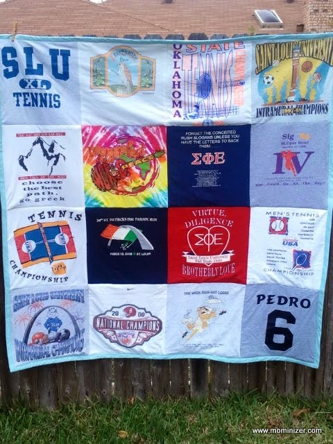 ....memory quilt from T-shirts.