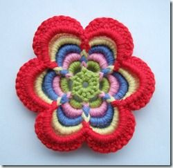 Free tutorial on how to crochet this cool flower.  I don't crochet, but this makes me want to learn.