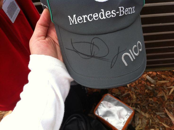 Nico #Rosberg's autograph! Best day ever, still feeling ecstatic #AusGP #F1 #2014 #TeamMercedes #TeamRosberg