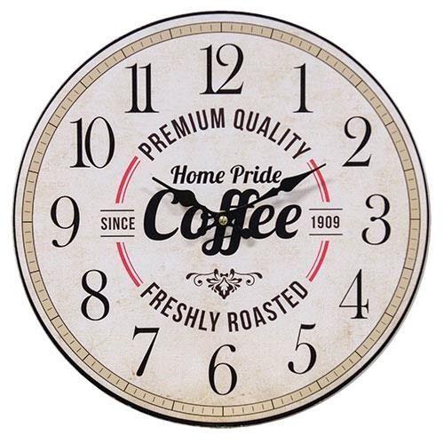 Home Pride Coffee Clock Country Rustic Primitive Decor   | eBay