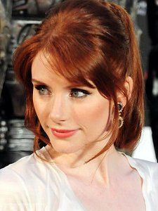 Bryce Dallas Howard. The bangs. The color