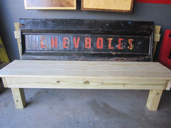 Truck tailgate bench each one is one of a kind by TomsTempShopName, $325.00