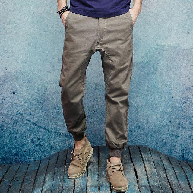 Pants Men Bottom ArmyGreen Male Loose Trousers Pants Spring Thin Casual Pants