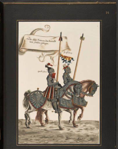 Hans Burgkmair des Jüngeren Turnierbuch von 1529: sechszehn Blätter in Handkolorit :: Rare Books and Manuscripts Collection