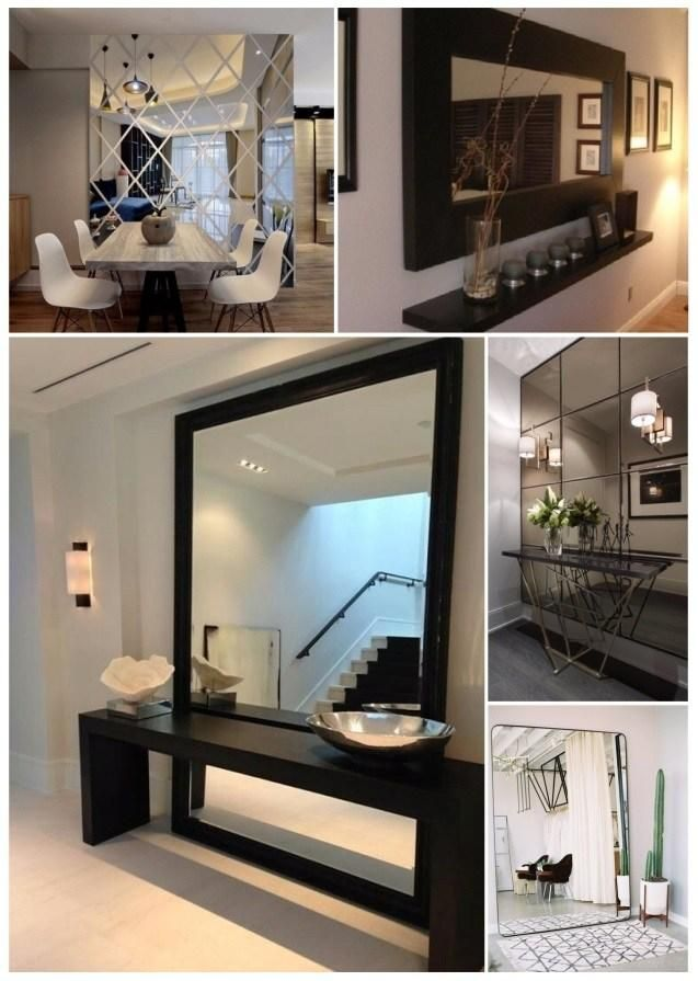 881 best espejos images on pinterest glass art mirrors for Decorar espejos sin marco