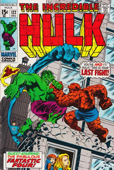 Incredible Hulk #122. The Fantastic Four. Hulk vs Thing. Cover by Herb Trimpe.
