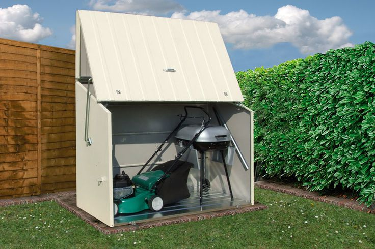 17 best images about garage storage solutions from space commander on pinterest parks sheds - Lawn mower for small spaces decor ...