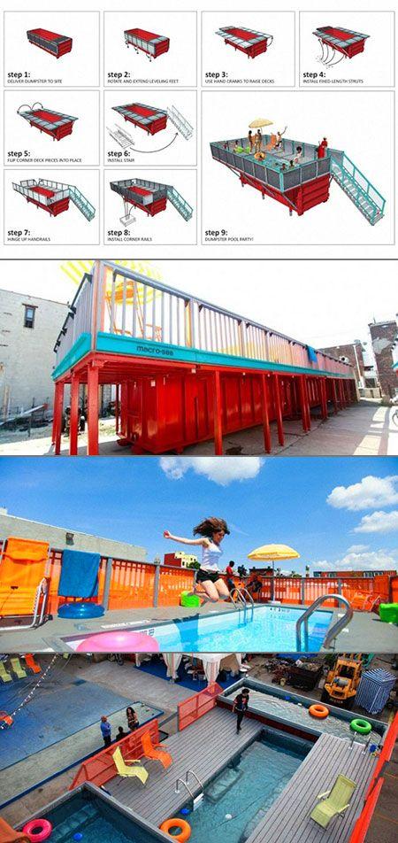 Dumpster Pool  www.54-11.com GLOBAL@Argentina.com Venta de #containers…                                                                                                                                                                                 More
