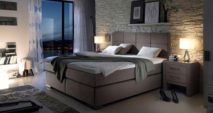 Stylowe łóżko kontynentalne z wezgłowiem. http://www.aaaameble.pl/