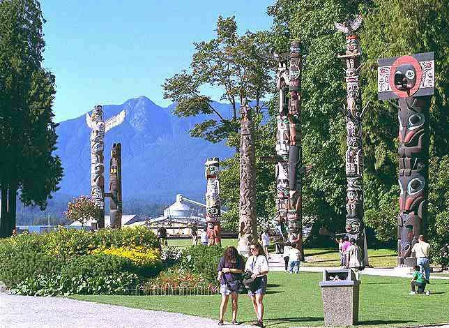Totems in Stanley Park Vancouver BC