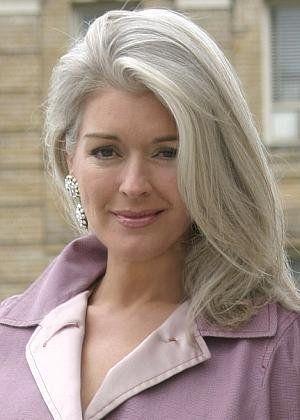 beautiful long gray silver hair