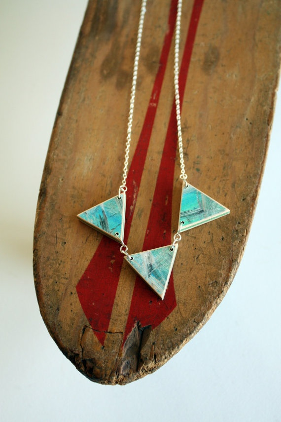 #Recycled #Skateboard Necklace by sevenply on Etsy