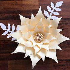 PDF Paper Flower Template with Base, DIGITAL Version - The Sunburst, Original Design by Annie Rose