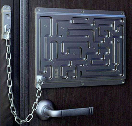 ha, love it...Decorative Front Door Chain Lock by Art Lebedev Studio