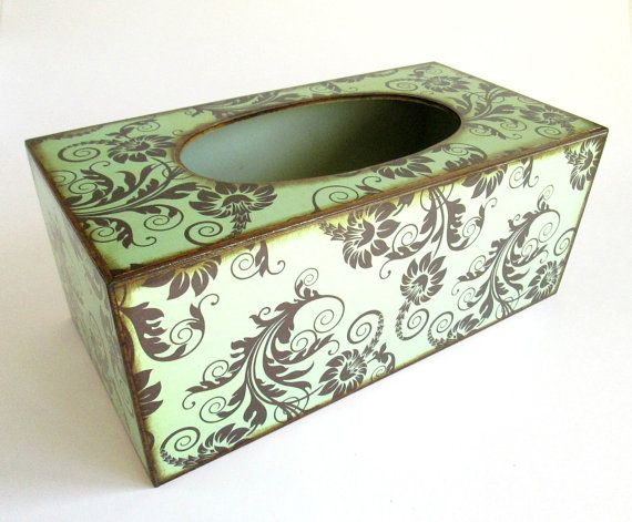 Decoupage Wooden Tissue / Kleenex Box Cover in by chocberryavenue, $33.00