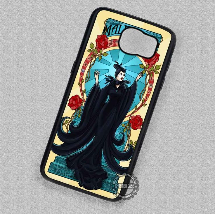 Lady in Black Gown Maleficent - Samsung Galaxy S7 S6 S5 Note 7 Cases & Covers