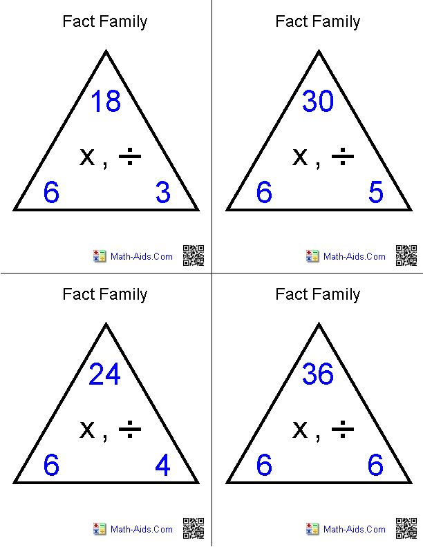 multiplication and division fact family flash cards math aids com math flash cards math. Black Bedroom Furniture Sets. Home Design Ideas