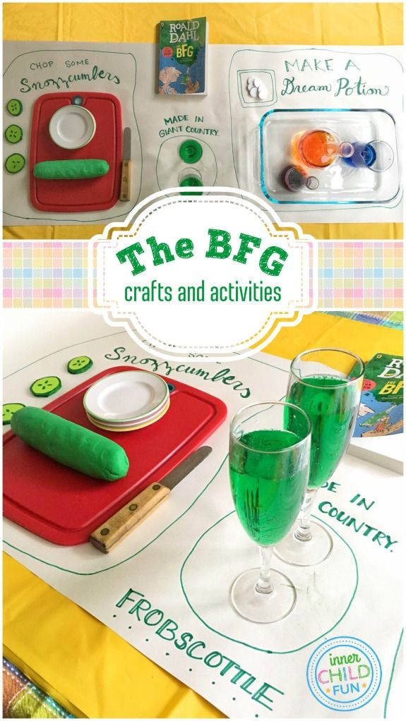 The BFG - Crafts and Activities -- these are so creative!!!