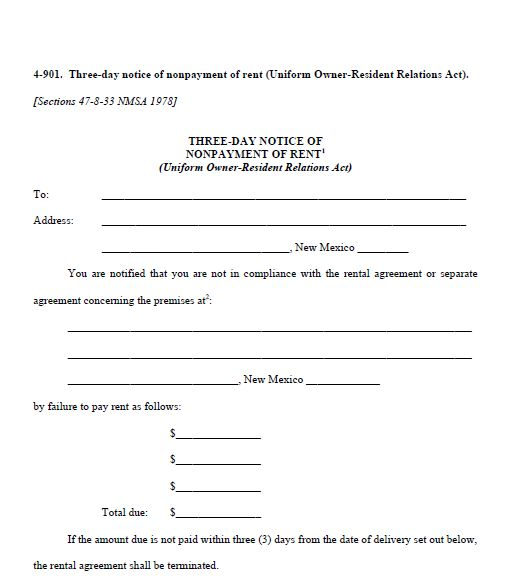 Printable Sample 3 Day Eviction Notice Form Real Estate