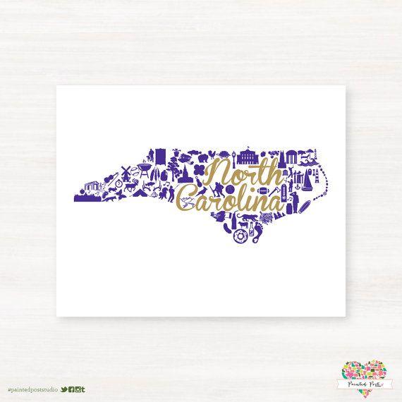 Western Carolina University - Catamounts-Cullowhee North Carolina State Landmark Giclée Map by PaintedPost