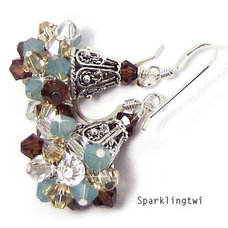 Sparklingtwi: Cluster Earrings