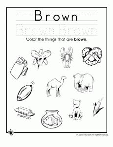 brown colors 231x300 Learning Colors Worksheets for Preschoolers