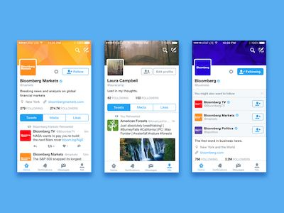 iOS Twitter mockup for Sketch with lots of screens and reusable elements.