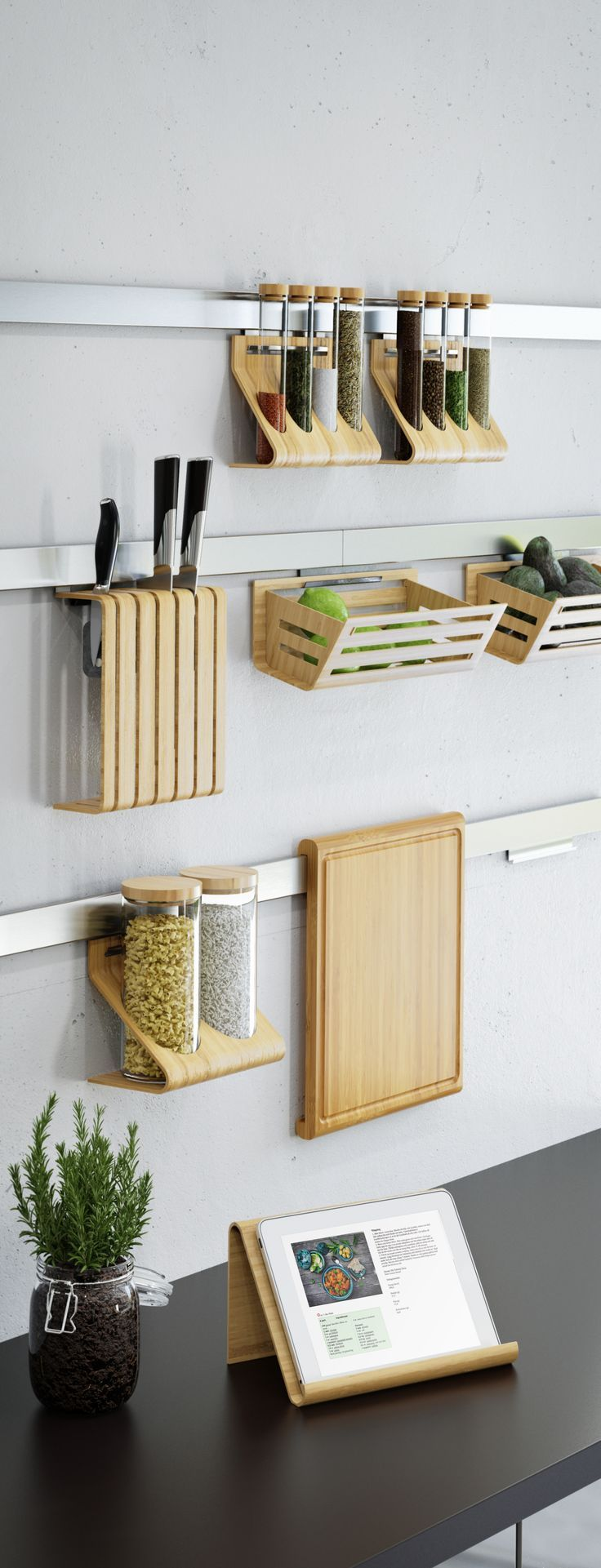 IKEA Fan Favorite: RIMFORSA series. Made from steel, glass and durable, easy-care, natural bamboo, our RIMFORSA series is a stylish way to organize kitchen essentials and keep them close at hand.