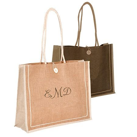 Large Jute Shopping Bag - $15.95 Find this #eco #jute bag and more at http://www.hansonellis.com/large-shopping-jute-bag.html
