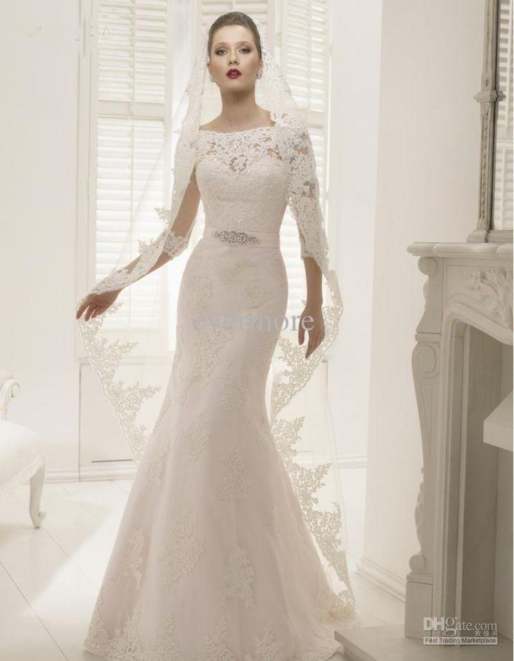 Fishtail Wedding Dresses Second Hand : Wedding dresses trumpet gowns mermaid bridal