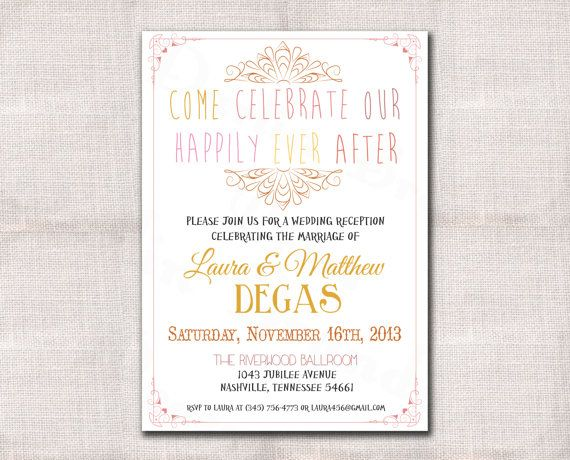 Wedding Dance Only Invitation Wording: 17 Best Images About Wedding Reception On Pinterest