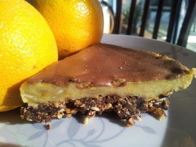 Chunky on Chia: Raw Chocolate Orange Cheesecake