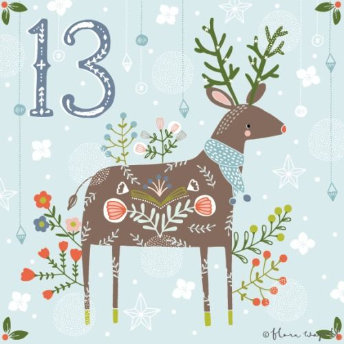Flora Waycott Christmas Advent 2014 DAY 13 - I want to be the prettiest reindeer! xx