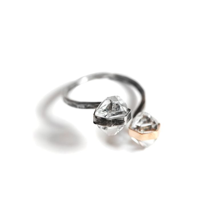 MJM x R29 Double Herkimer Diamond Ring.